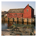 motif number one rockport massachusetts at sunset photograph thumbnail.